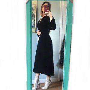 {True Vintage} 1930s black velvet dress